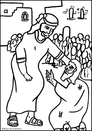 jesus heals the leper coloring page eson me