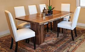 amish table and chairs rio vista live edge trestle table amish direct furniture