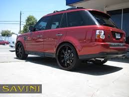 red land rover range rover sport savini wheels