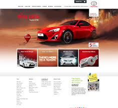 toyota home toyota home page automobile website ui u0026 ux examples pinterest