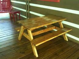 Plans For Picnic Tables by Ana White Bigger Kids Picnic Table Diy Projects