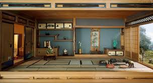 natural design of the living room that has a japanese style with
