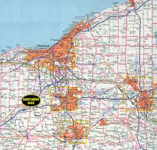 Ohio City Map Map On Of Ohio Northern World Maps
