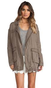 Free People Parka Free People Rugged Embroidered Twill Jacket In French Olive Revolve