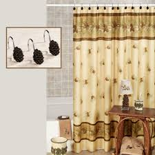 Pine Cone Lace Curtains Pinehaven Rustic Pine Cone Shower Curtain