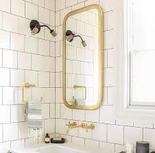 Flat Bathroom Mirrors Brass Bathroom Mirror Look 4 Less And Steals And Deals