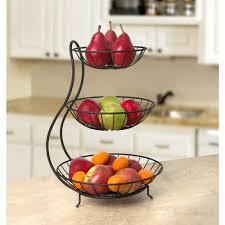 3 tier fruit basket spectrum yumi 19 in x 12 75 in x 13 in steel arched 3 tier server