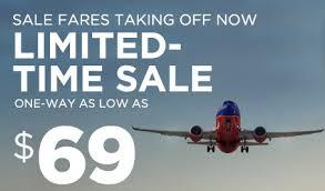 southwest airlines cheap flights 69 deals