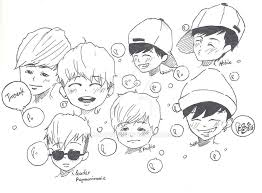 Bangtan Chibi By Yuncumber On Deviantart Coloring Pages Kpop