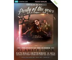 classy event poster template free download for party event