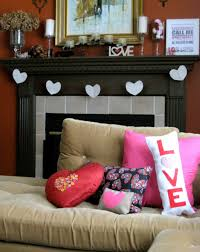 Heart Decorations Home Nice Looking Living Room Valentine Day Deco Showing Delightful