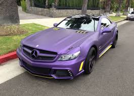 55 amg mercedes for sale l a lakers inspired mercedes sl55 amg for sale gtspirit