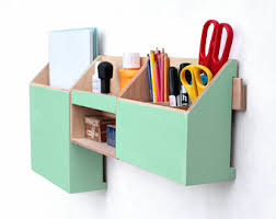 Desk Organizer Sets Grey Organizer Handmade Desk Storage Wood Set For Desk