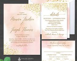 wedding invitation suites wedding suite etsy