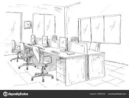 open space office workplaces outdoors tables chairs and windows
