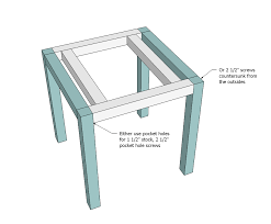 Wood Plans For End Tables ana white simple white outdoor end table diy projects