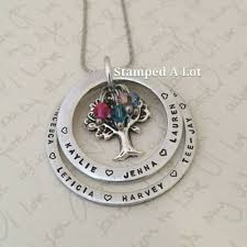 personalized family tree necklace 2 ring family tree necklace personalised name necklace handmade