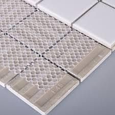 wholesale porcelain floor tile mosaic white square brick tiles