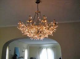 Chandelier Cover Reversible Décor Martina S Chandelier Cover Up Apartment Therapy
