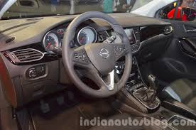 opel astra 2015 2016 opel astra interior at the iaa 2015 indian autos blog