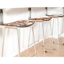 yvonne potter y design cowhide counter stool khazana home austin yvonne potter y design cowhide
