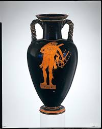 Black And Red Vase Black And Red Figure Painting From The Greek Archaic Period
