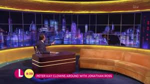 tv studio desk jonathan ross show thrown into chaos as peter kay destroys set