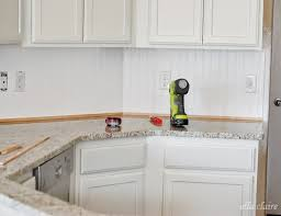 wainscoting kitchen backsplash 30 beadboard kitchen backsplash tutorial ella