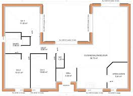 plan maison 3 chambres plain pied maison plain pied 3 chambres en u