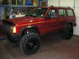 big red jeep customwork