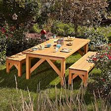 Outdoor Wooden Bench Plans by Outdoor Furniture Plans