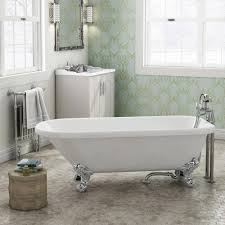 bromley 1470 small single ended roll top bath chrome legs roll