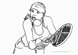 tennis ball racquet cartoon tennis players coloring pages kids aim