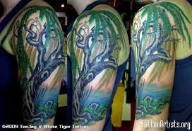 half sleeve weeping willow designs tattoomagz