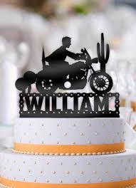 motorcycle cake personalized motorcycle birthday cake topper bee3dgifts