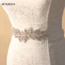 Wedding Sashes Beautiful Sparkly Colorful Beaded Bridals Belts Leaf Models