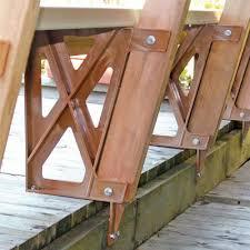 peak plastic bench bracket in redwood 2602 home depot canada