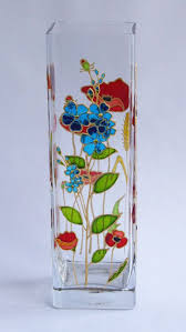 Flower Vase Painting Ideas Best 25 Painted Glass Vases Ideas On Pinterest Painted Glass