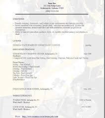 Cosmetology Resume Wait Staff Resume Innovation Idea New Graduate Nurse Resume 7