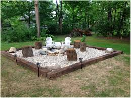 backyard with fire pit landscaping ideas backyards cozy inexpensive landscaping rocks house beautifull