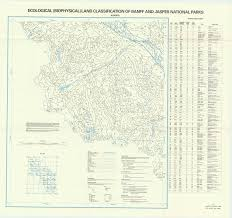 Jasper National Park Canada Map by Ecological Biophysical Land Classification Of Banff And Jasper