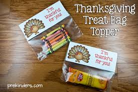 thanksgiving treat bag topper prekinders