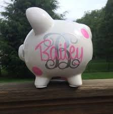 monogrammed piggy banks personalized vinyl decals for piggy bank the sea custom