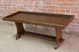 Rustic Bench Coffee Table Very Rustic Bench With Lip For Cushion Ecustomfinishes