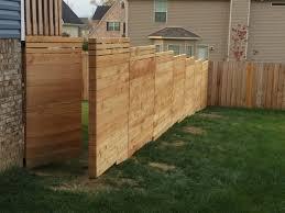 Fence Ideas For Small Backyard Diy Horizontal Privacy Fence Designs Ideas For Backyard Large
