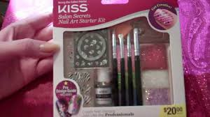 opening new kiss salon secrets nail art starter kit youtube
