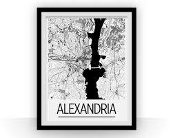 Alexandria Va Map Alexandria Va Map Poster Virginia Map Print Art Deco Series