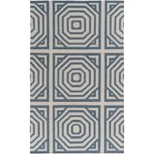 dwellstudio offset zag hand woven teal charcoal area rug