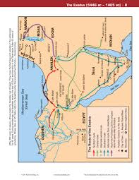 Iso Map Map The Exodus 1446 Bc U2013 1405 Bc Reading The Bible