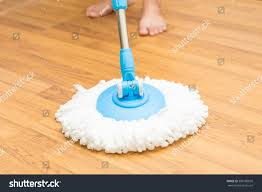 cleaning by use modern mop on stock photo 309186635